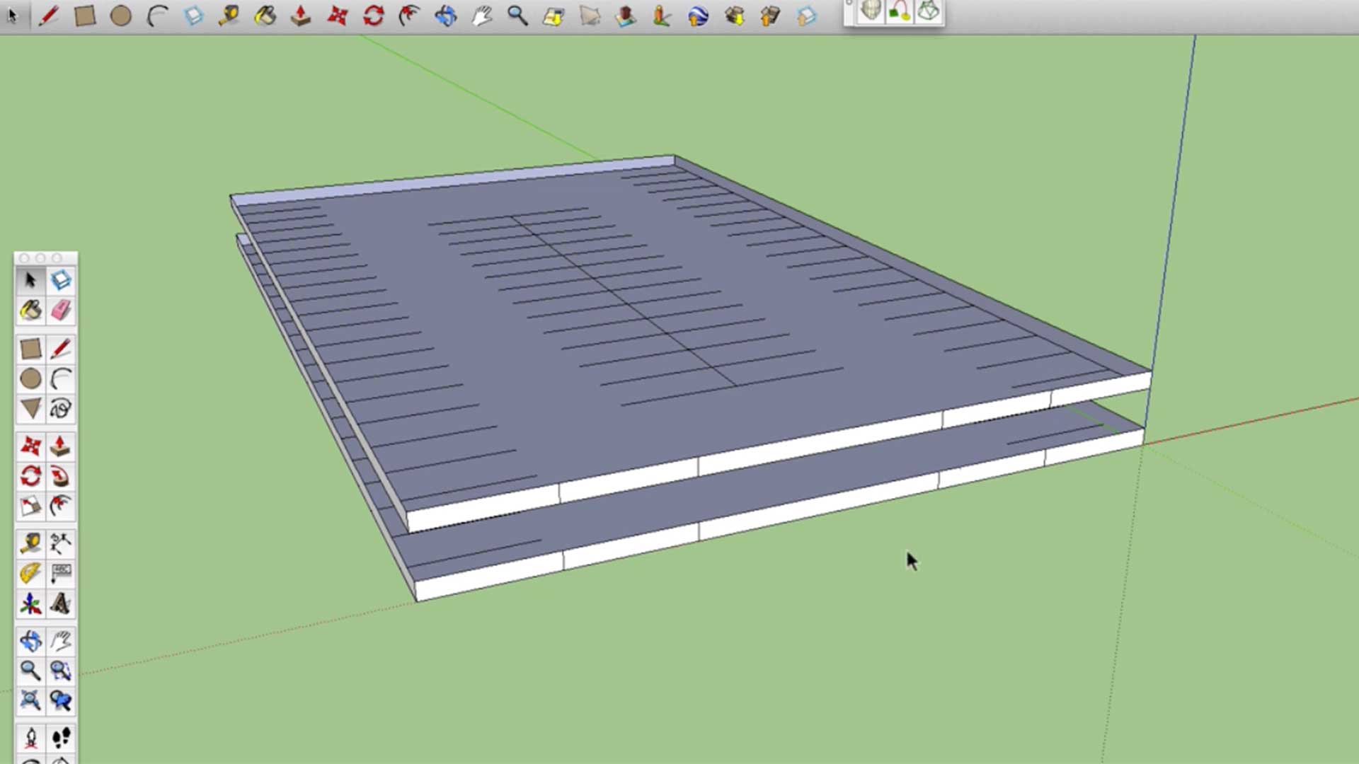 parking structure created in sketchup