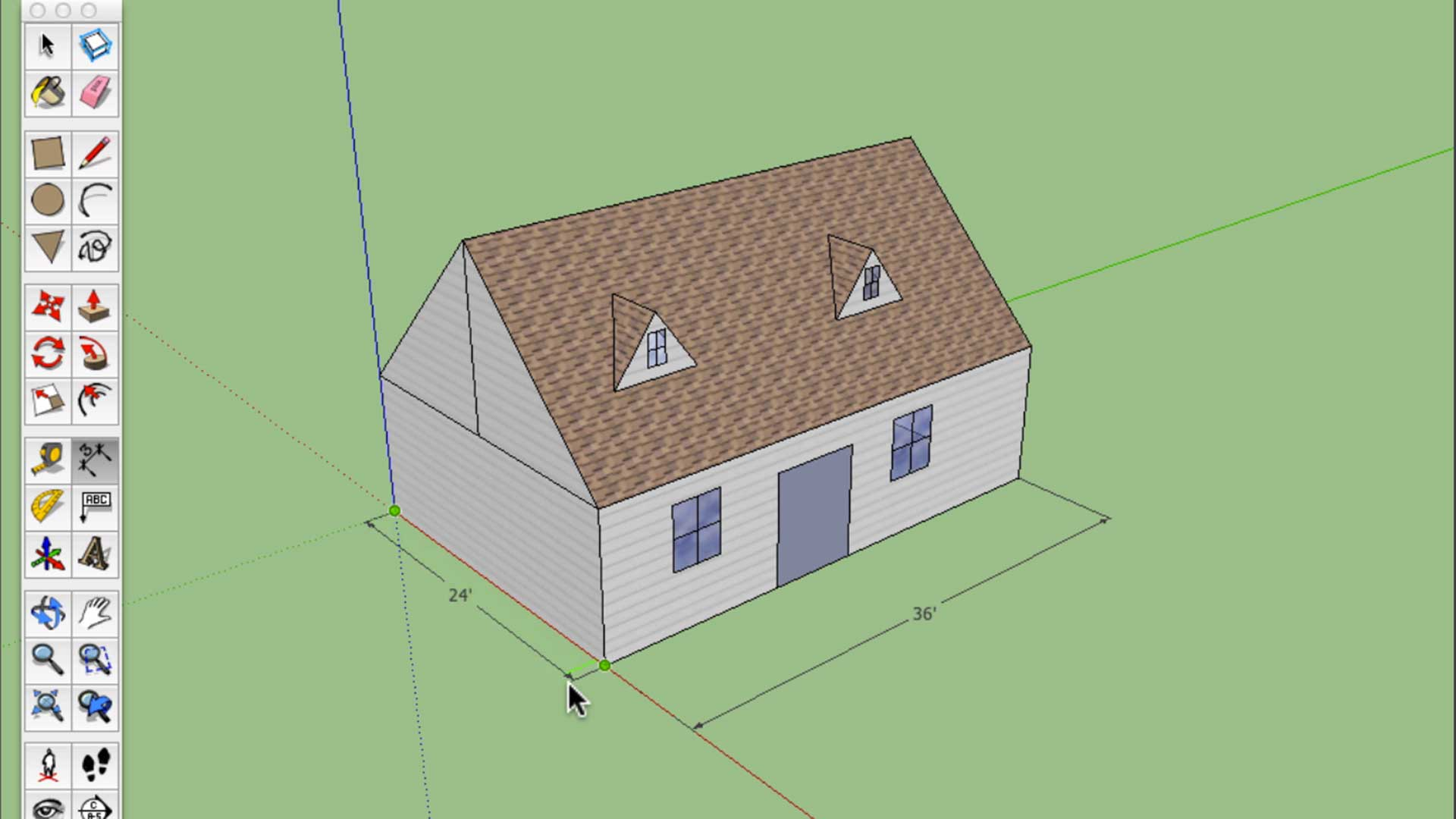 3-d house created in sketchup