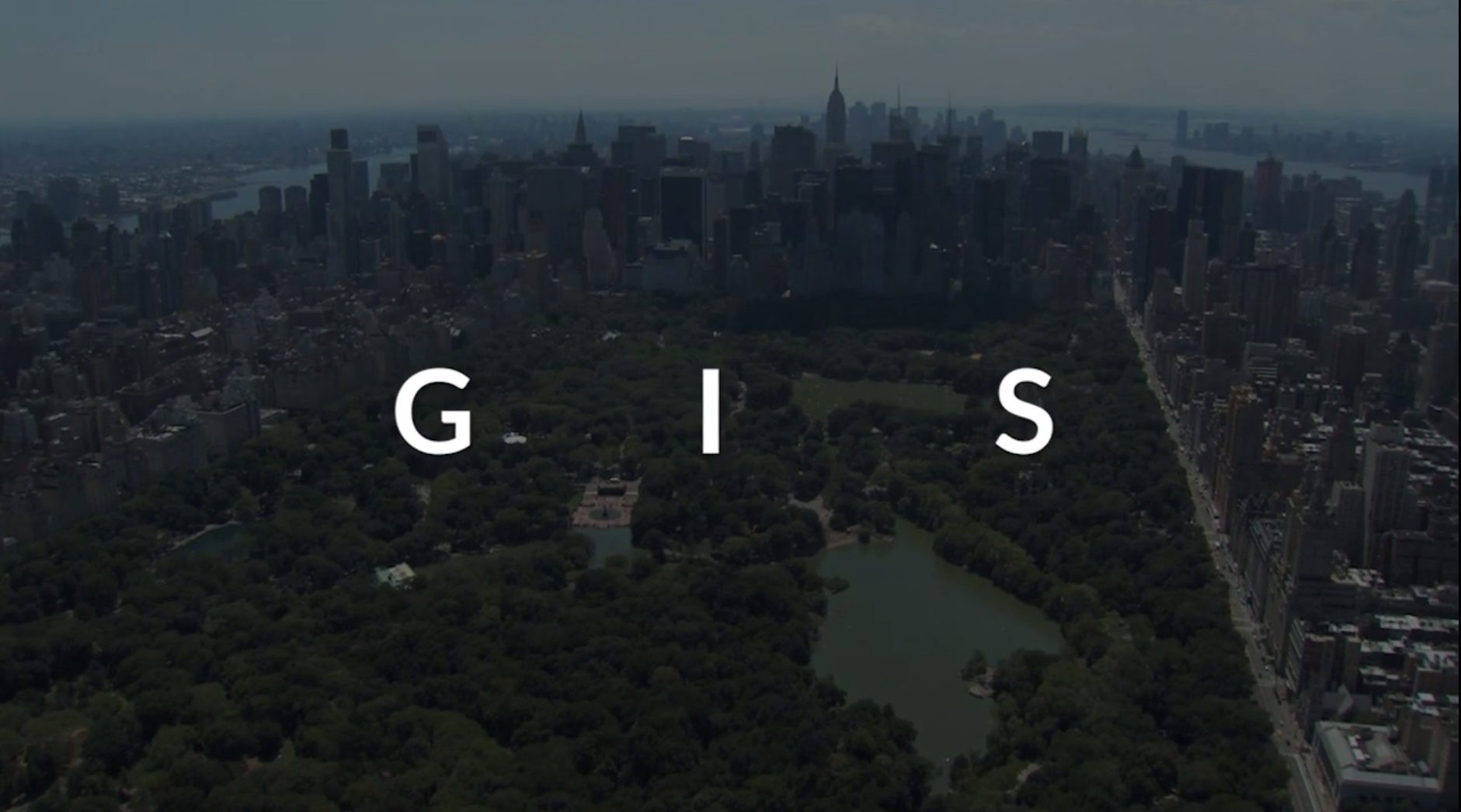 gis title with new york city in background