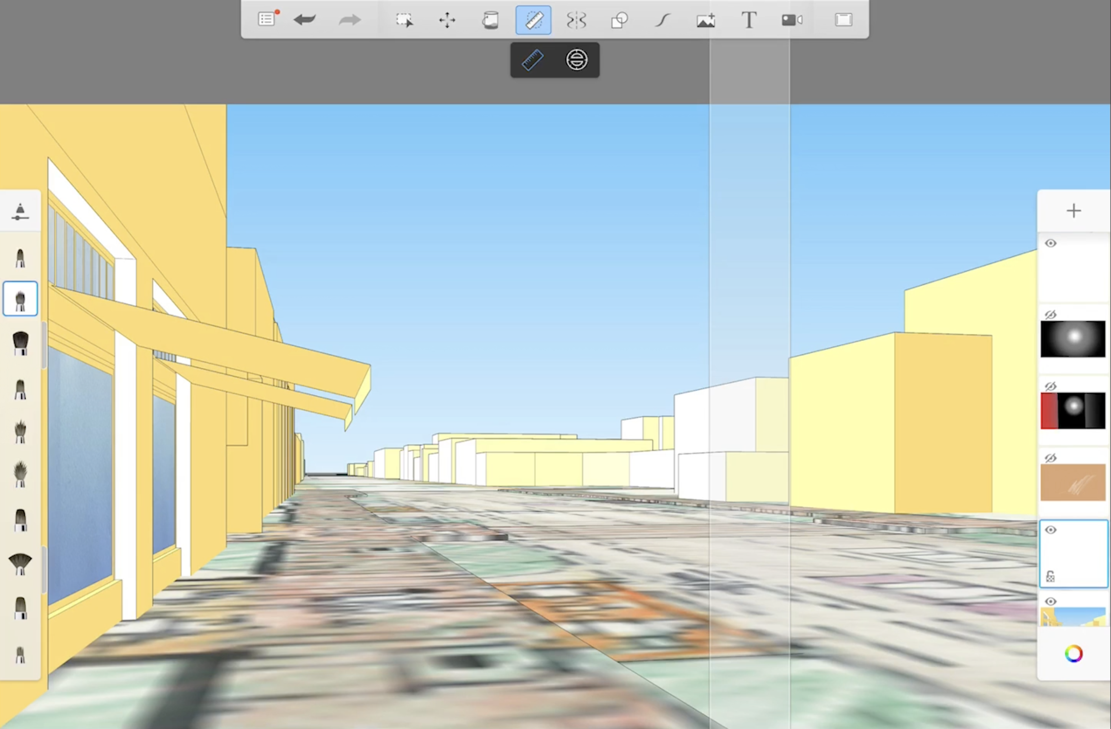 street perspective in audodesk sketchup