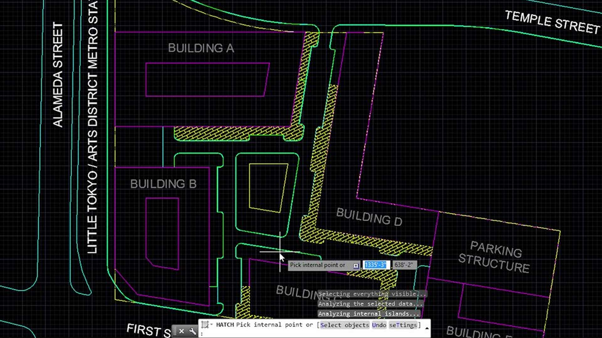 site plan created in autocad