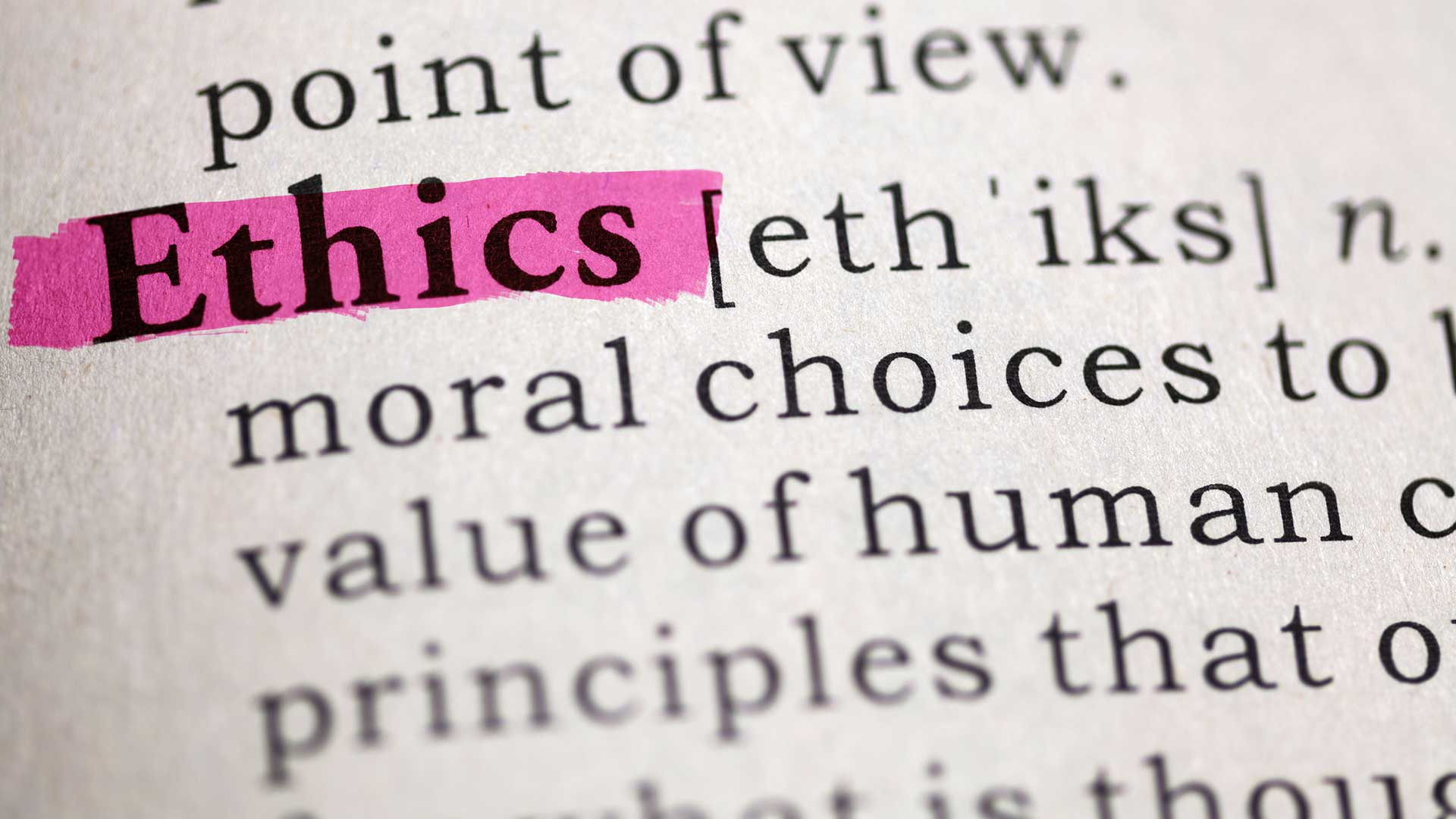 ethics definition from dictionary