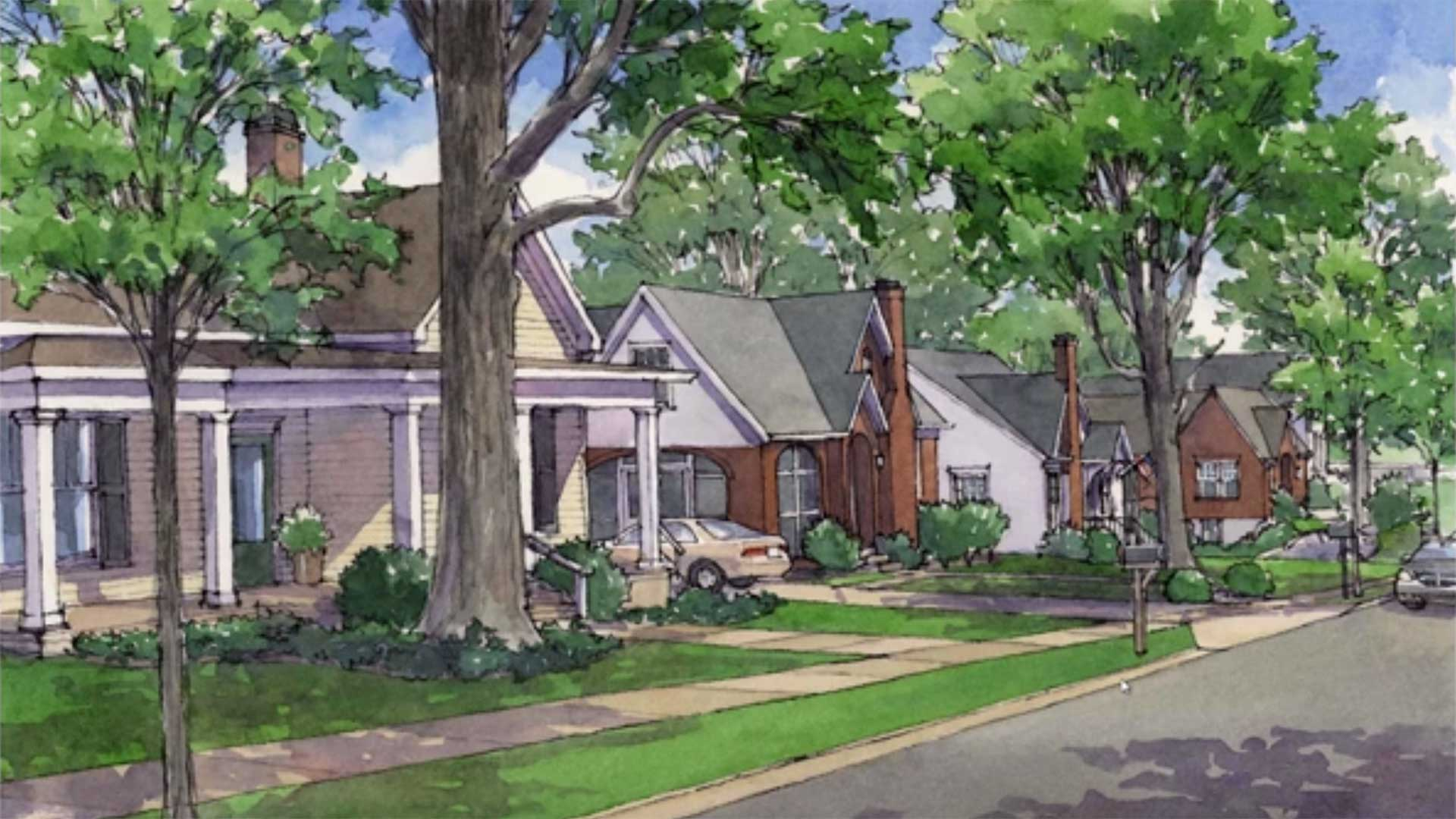 rendering of neighborhood