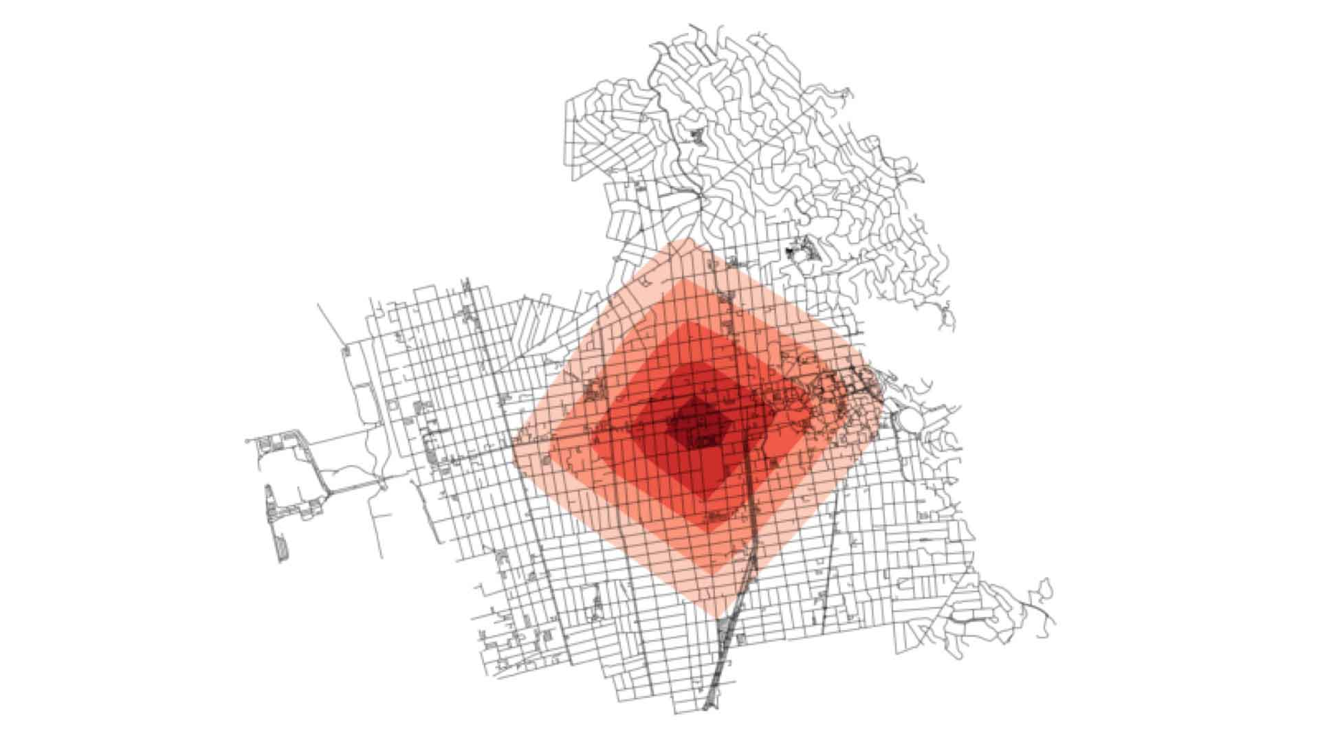 street network map created in python for urban planning course