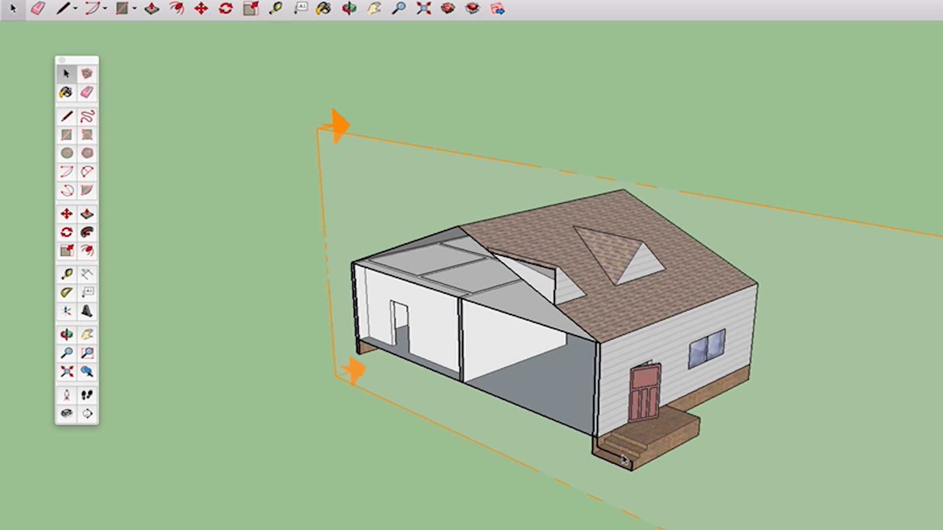 model created in sketchup