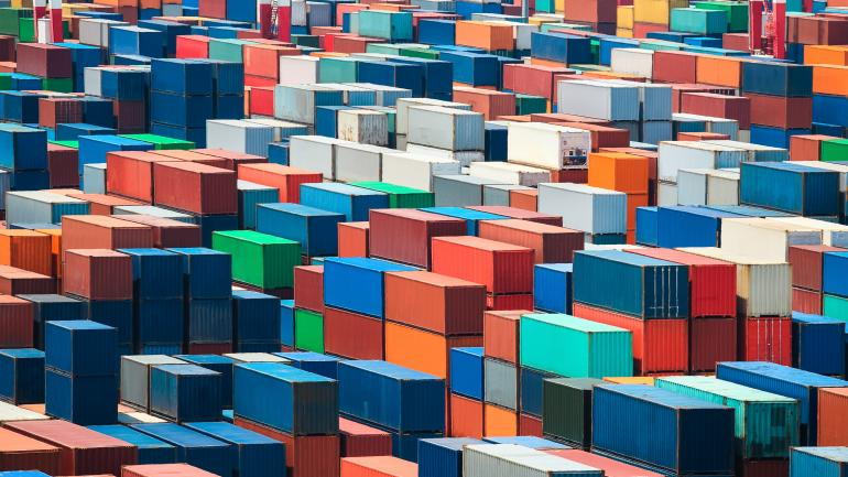 containers and freight for export and import