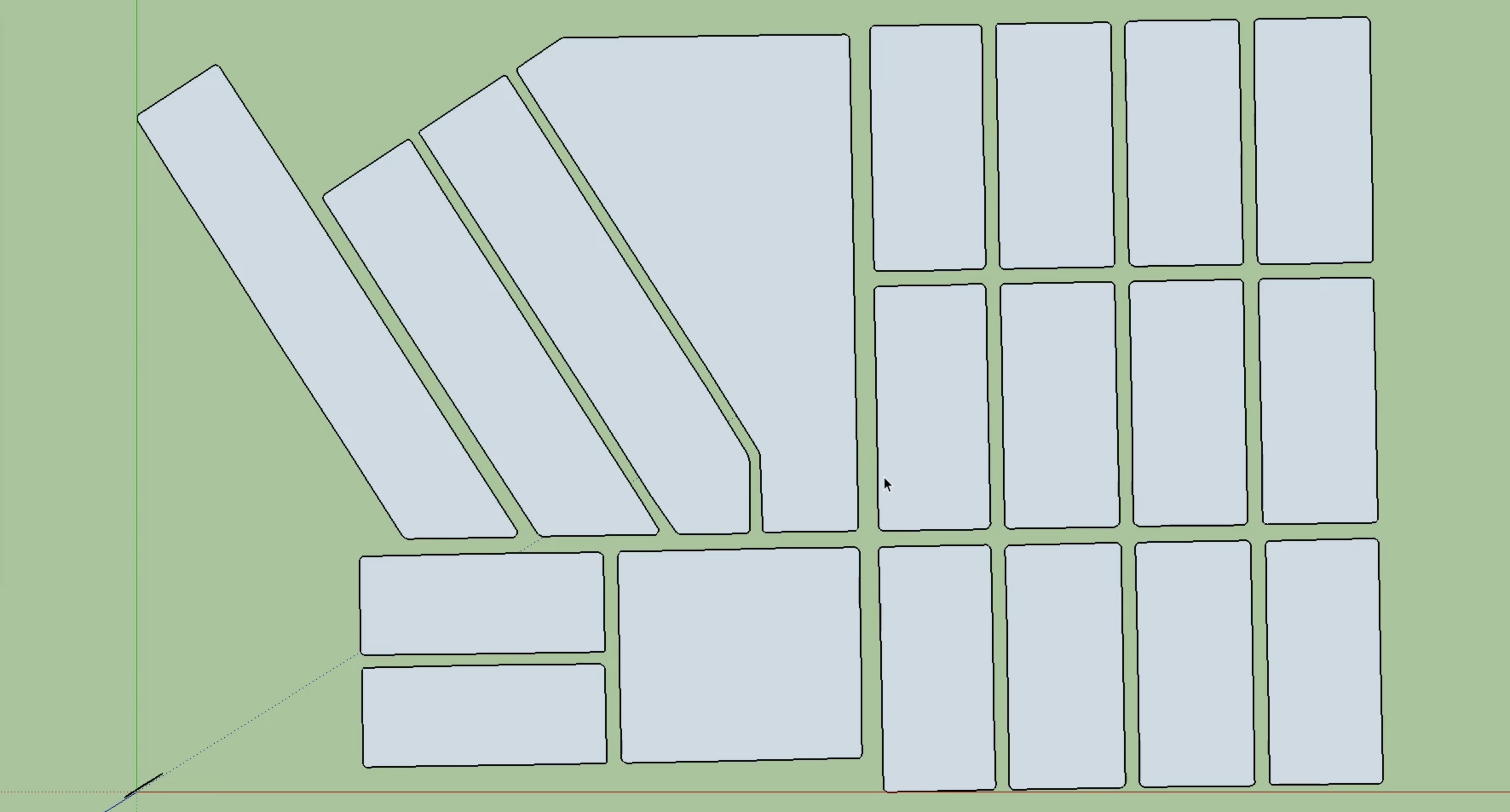 Imported blocks from bridgeport in Sketchup