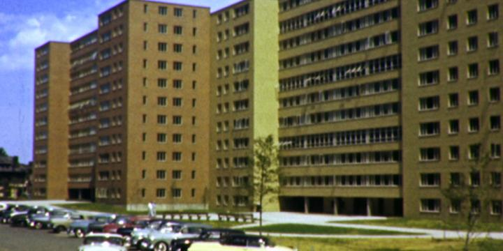 Exterior of Pruitt Igoe housing complex