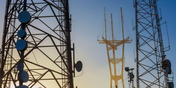 group of telecommunication towers