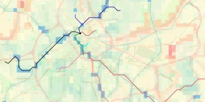 Suitability Analysis and Linear Optimization: Siting a New Transit Line