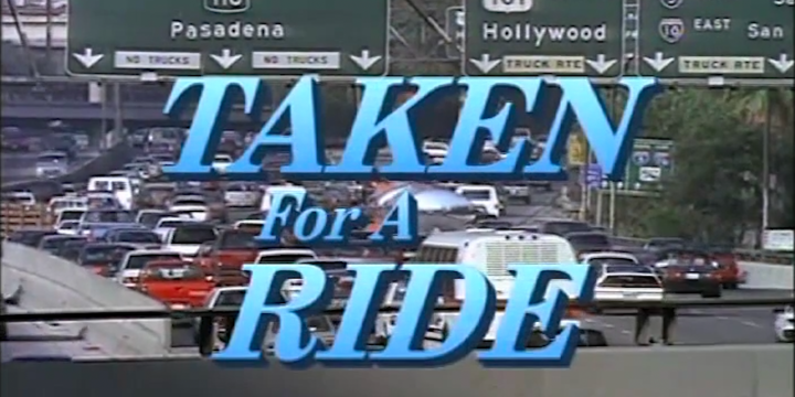 film title with freeway in background